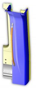 Progetto Elementi d'Arredo in lamiera di alluminio