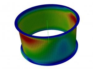 Analisi FEM elemento di condotte di areazione impianto GE