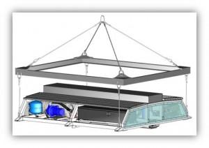 Tram Sirio Athens - HVAC System Roof Module handling