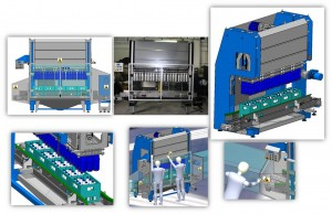 Multi-head uncorking machine for bottling industry