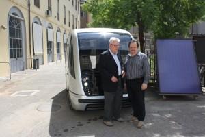 Argeo Bartolomei ed Ing. Pellegrini (ex Principal of I.P.S.I.A. Pacinotti di Pistoia)
