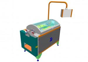 Mono-use ampoules control machine