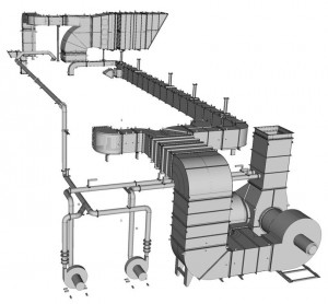 Refrigerating Air Duct Systems for Energy Production Plants