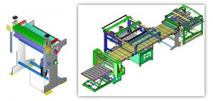Machines for construction of laminating paper-wrapped boxes and cardboard, micro-movements with different types of engines