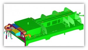 Tram Sirio - Cable passage simulation and grounding
