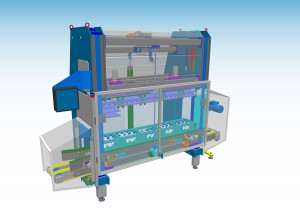 Multi-head machine for bottling industry