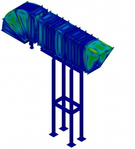 FEM Analysis on turbine ventilation ducts